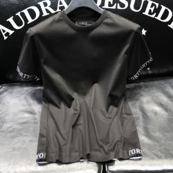 111786 소매 레터링 비스코스 반팔 티셔츠(Black)