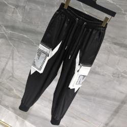 111768 NM 카고 포켓 배색 트레이닝 팬츠(Black)