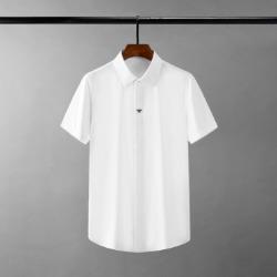 111697 삼색 꿀벌 자수 히든버튼 반팔 셔츠(2color)