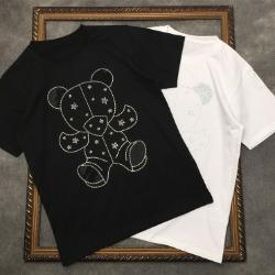 111824 스타 베어 비즈 프린팅 반팔 티셔츠(2color)
