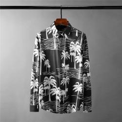 111690 쉐도우 코코팜 프린팅 긴팔 셔츠(Black)