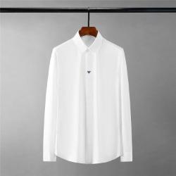 111696 삼색 꿀벌 자수 히든버튼 긴팔 셔츠(2color)