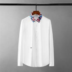 111695 카모플라쥬 카라 허니비 자수 긴팔 셔츠(2color)