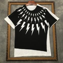 111730 언발란스 페이크 덧댐 반팔 티셔츠(2color)