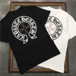 111839 비즈 크로스 레터링 반팔 티셔츠(2color)