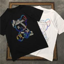 111846 바이올런스 베어 비즈 프린팅 반팔 티셔츠(2color)