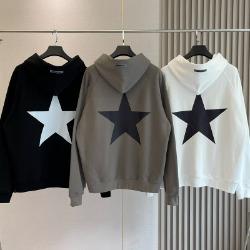111956 에센셜 스타 백프린팅 기모 후드 티셔츠(3color)