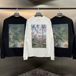 111957 에센셜 체리블라썸 백프린팅 긴팔 티셔츠(2color)