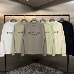 111967 에센셜 더블라인 백 프린팅 긴팔 티셔츠(6color)