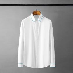 111883 카라 소매 자수라인 긴팔 셔츠(2color)