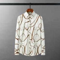 111923 디지털 전사 벨트 프린팅 긴팔 셔츠(White)