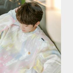 111954 파스텔 그라데이션 나염 오버핏 맨투맨 티셔츠(2color)