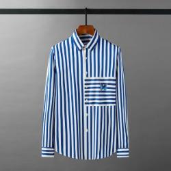 111924 스트라이프 배색 버터플라이 긴팔 셔츠(2color)