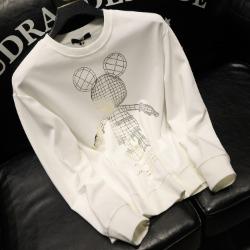 112043 토이 마우스 스팽글 프린팅 맨투맨 티셔츠(2color)