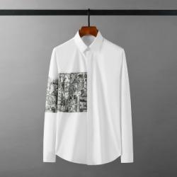 111885 카툰 배색 프린팅 긴팔 셔츠(2color)