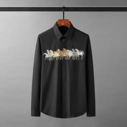 111927 그라데이션 홀스 프린팅 긴팔 셔츠(5color)