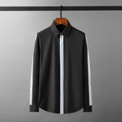 111928 소매 앞띠 라인배색 긴팔 셔츠(2color)
