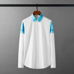 111884 카라 어깨 파스텔 배색 긴팔 셔츠(White)