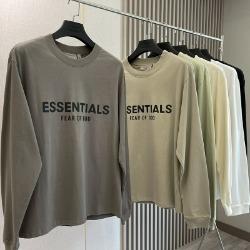111963 에센셜 더블라인 실리콘 프린팅 맨투맨 티셔츠(6color)