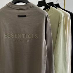 111966 에센셜 더블라인 피그먼트 긴팔 티셔츠(4color)