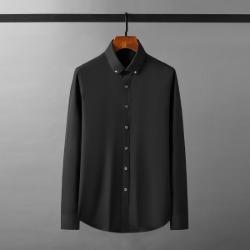111925 라운딩 카라 리벳 포인트 긴팔 셔츠(2color)