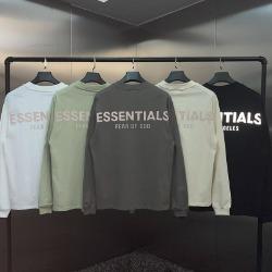 111968 에센셜 리플렉션 더블라인 프린팅 긴팔 티셔츠(5color)