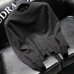 112063 TH 양각 돌핀 스티치 맨투맨 티셔츠(Black)
