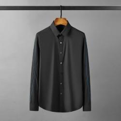 112137 라인 스티칭 소매 배색 긴팔셔츠(2color)