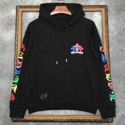 112178 컬러풀 소매 레터링 프린팅 후드 티셔츠(2color)