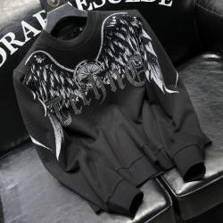 112163 비즈 레터링 윙 프린팅 맨투맨 티셔츠(2color)