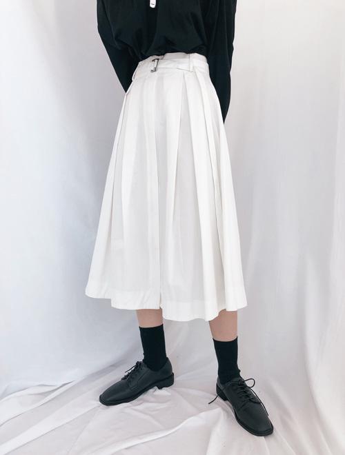 ベルテッドプリーツスカート (sk0128)