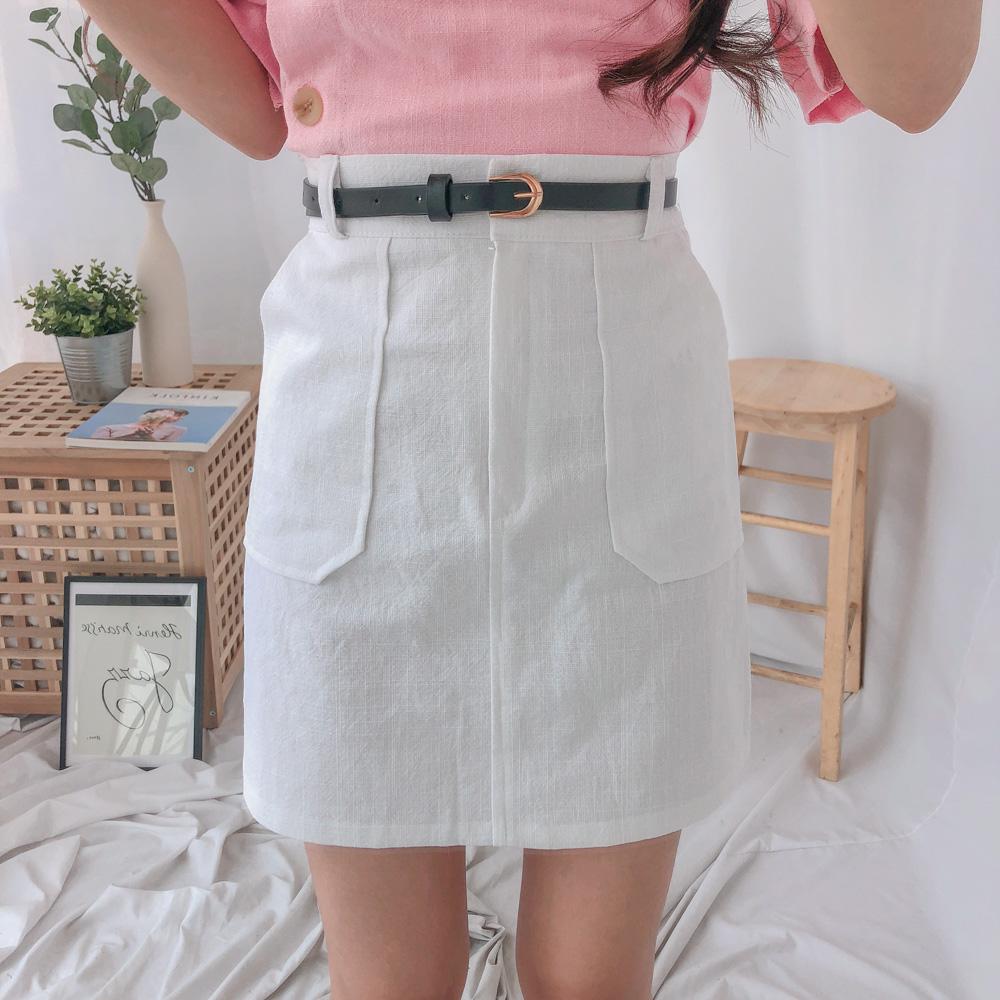 リネンビッグポケットスカート (sk0624)