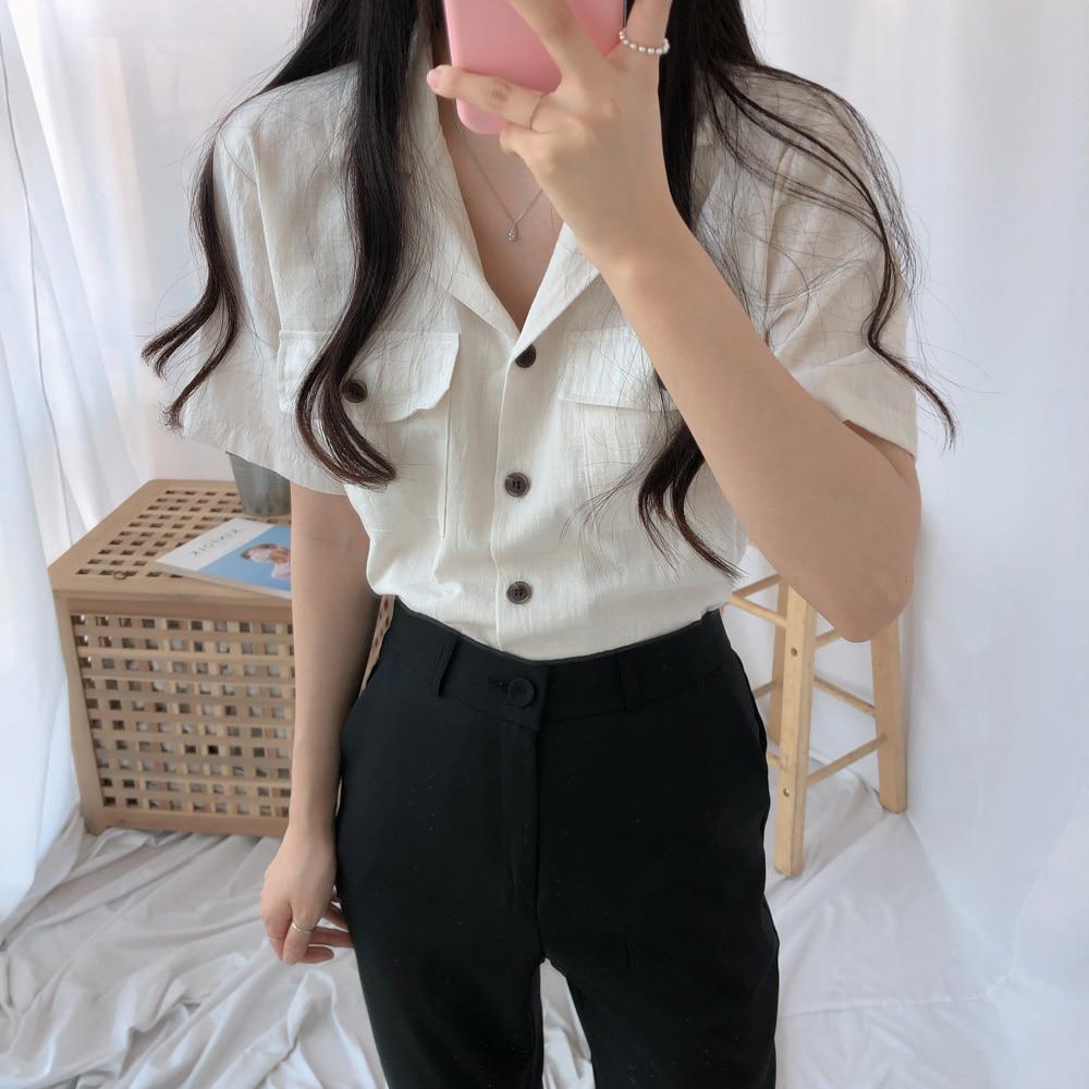 タイムリネン半袖シャツ (nb0163)