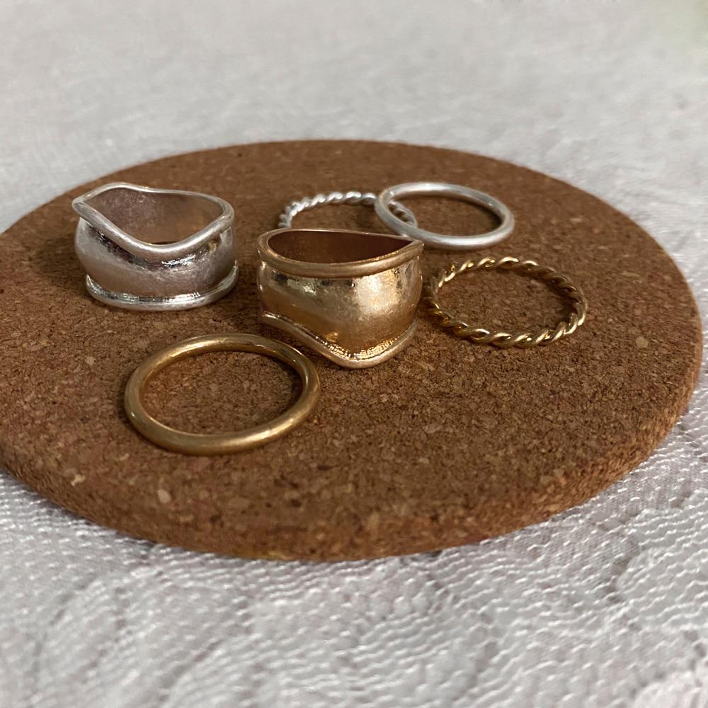 wide flat matte 3 ring set