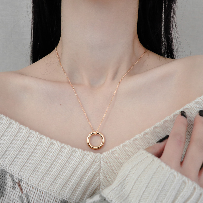 1513 donut ring simple necklace