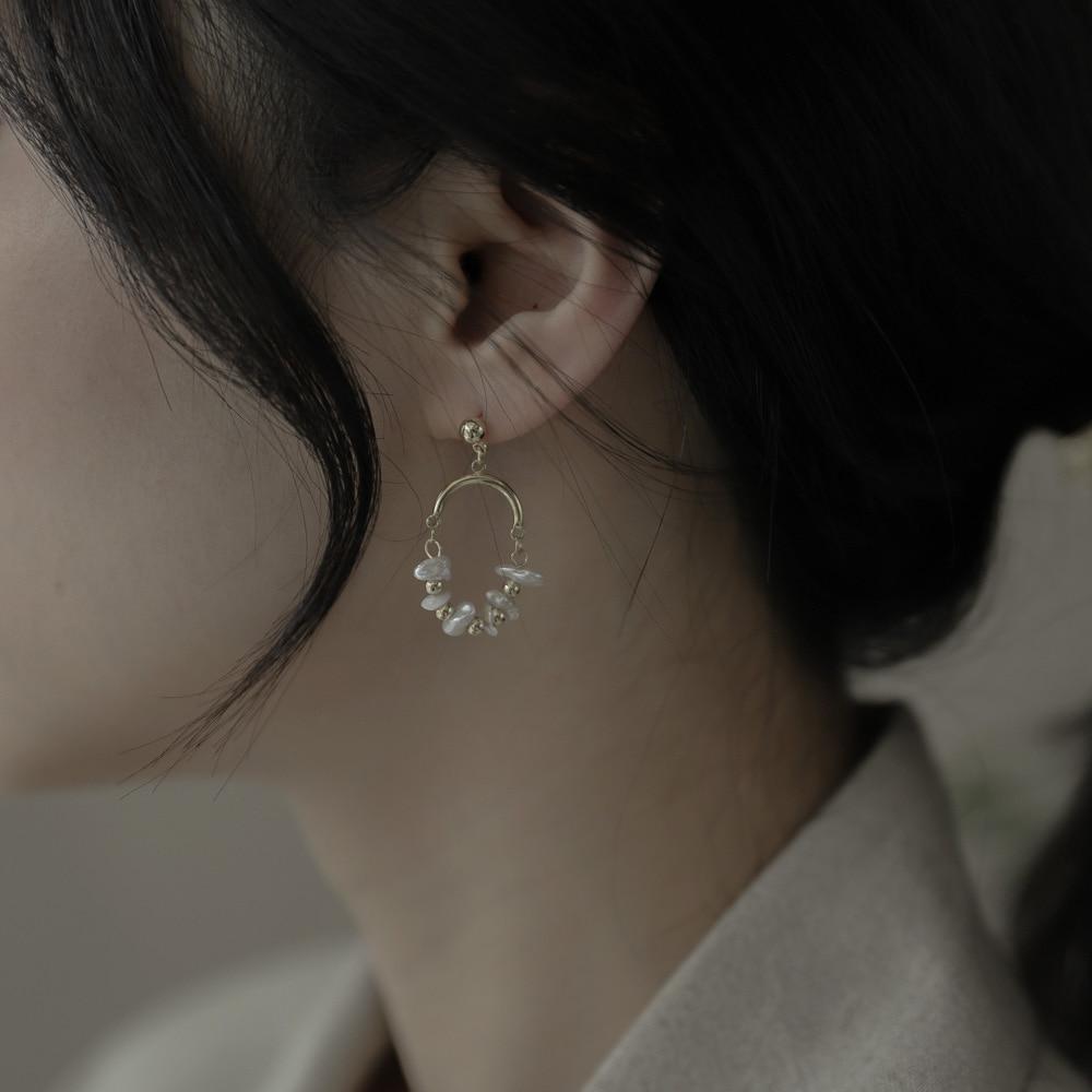 297 pearl weave drop earrings