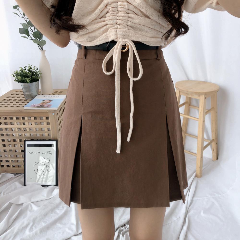 三角スリットスカートパンツ (sk0631)