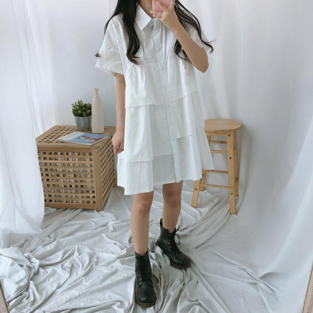 シャツカンカン半袖ワンピース (ops0304)