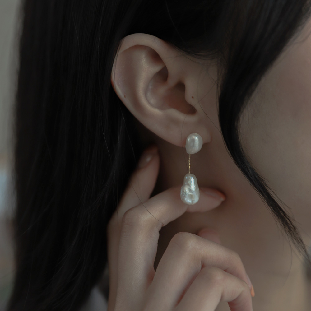 9704 natural pearl drop earrings