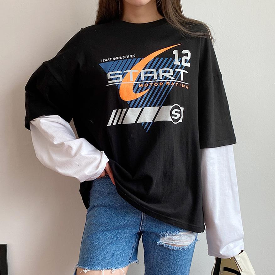 스타트 레이어드 티셔츠 (t1474)