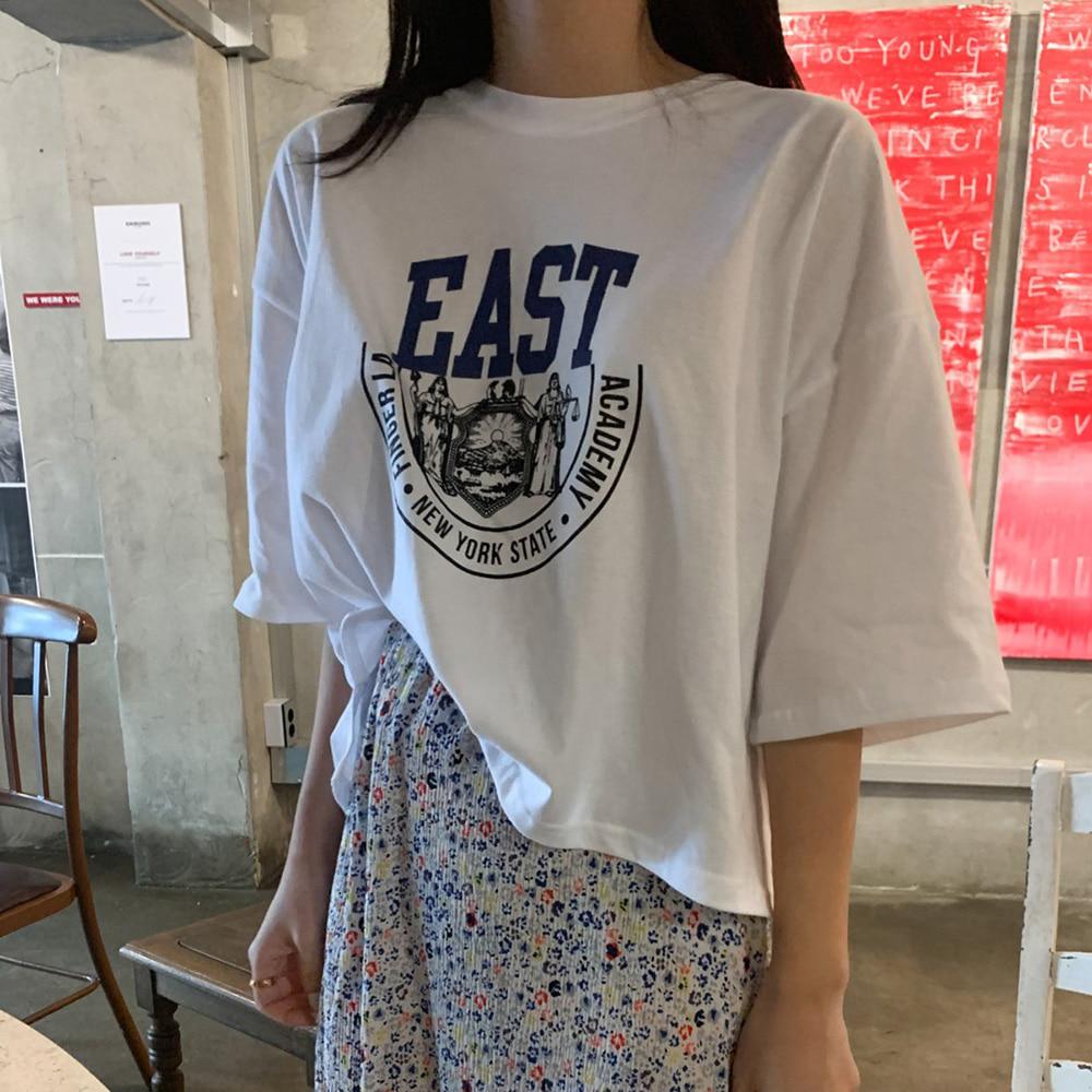 EAST 크롭 반팔 티셔츠 (t1542)