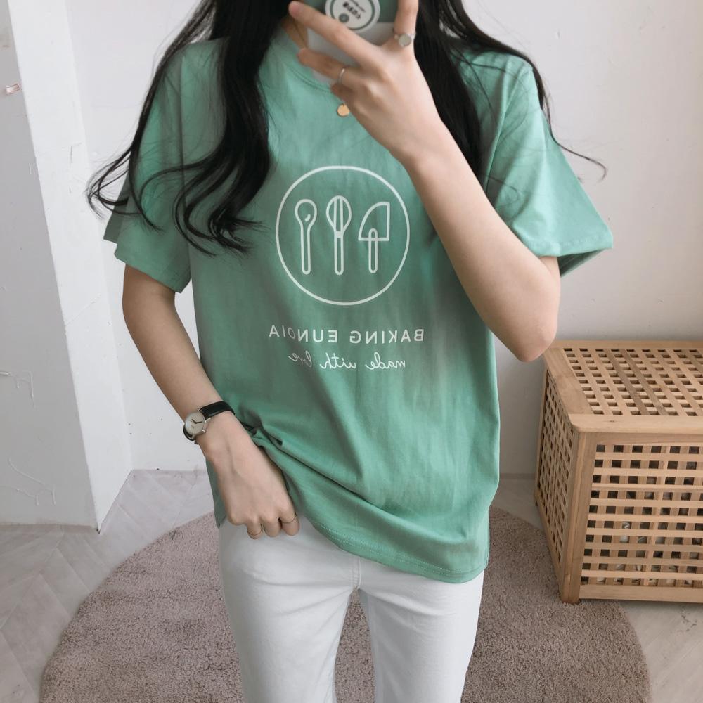 ベーキング半袖Tシャツ (t1685)