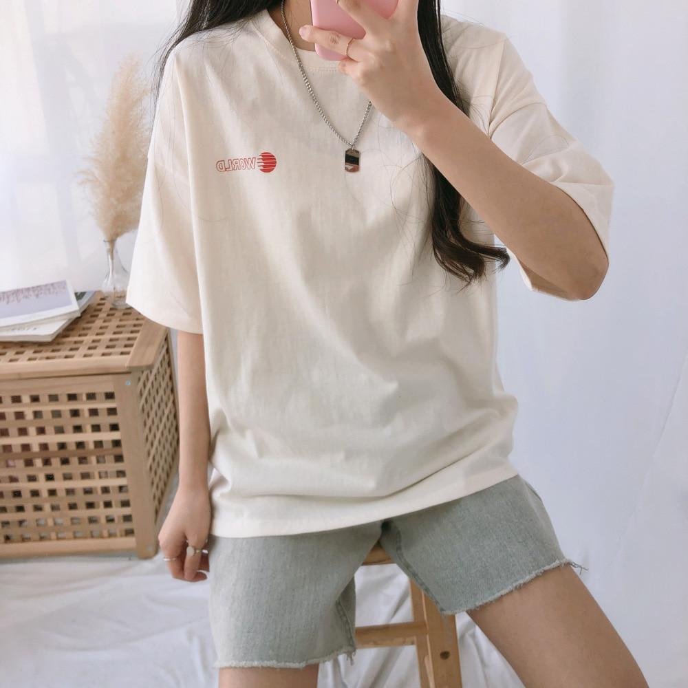 Worldレタリング半袖Tシャツ (t0835)