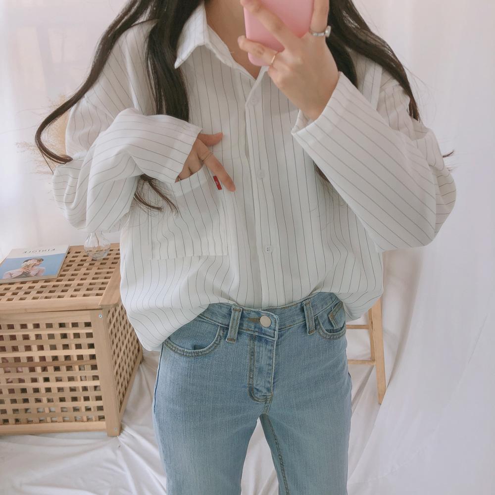 레드단 스트라이프 셔츠 (nb0137)