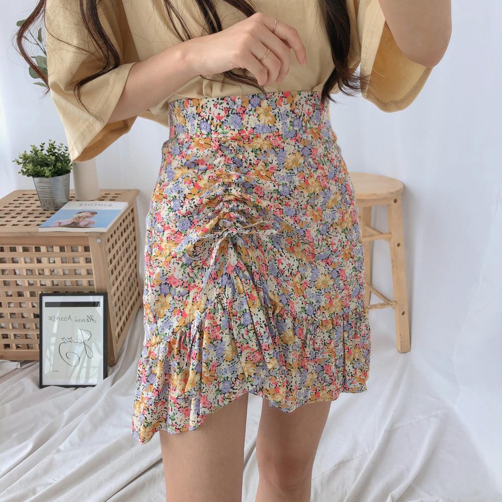 フラワーストリングシャーリングスカート (sk0614)