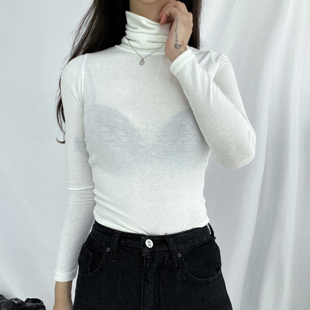 ハウルスリムタートルネックTシャツ (t1285)