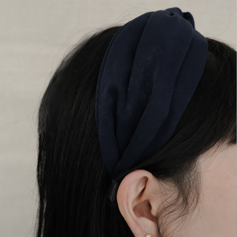 2422 silk wide ribbon headband