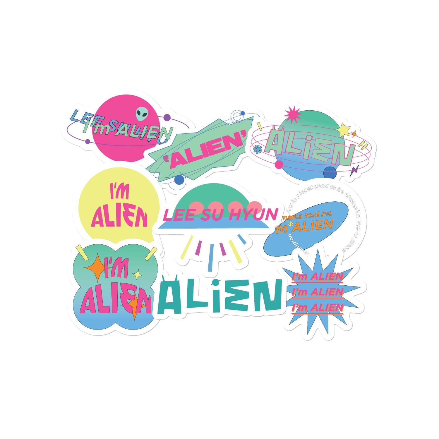 [PATCHMANIA] SUHYUN ALiEN STICKER