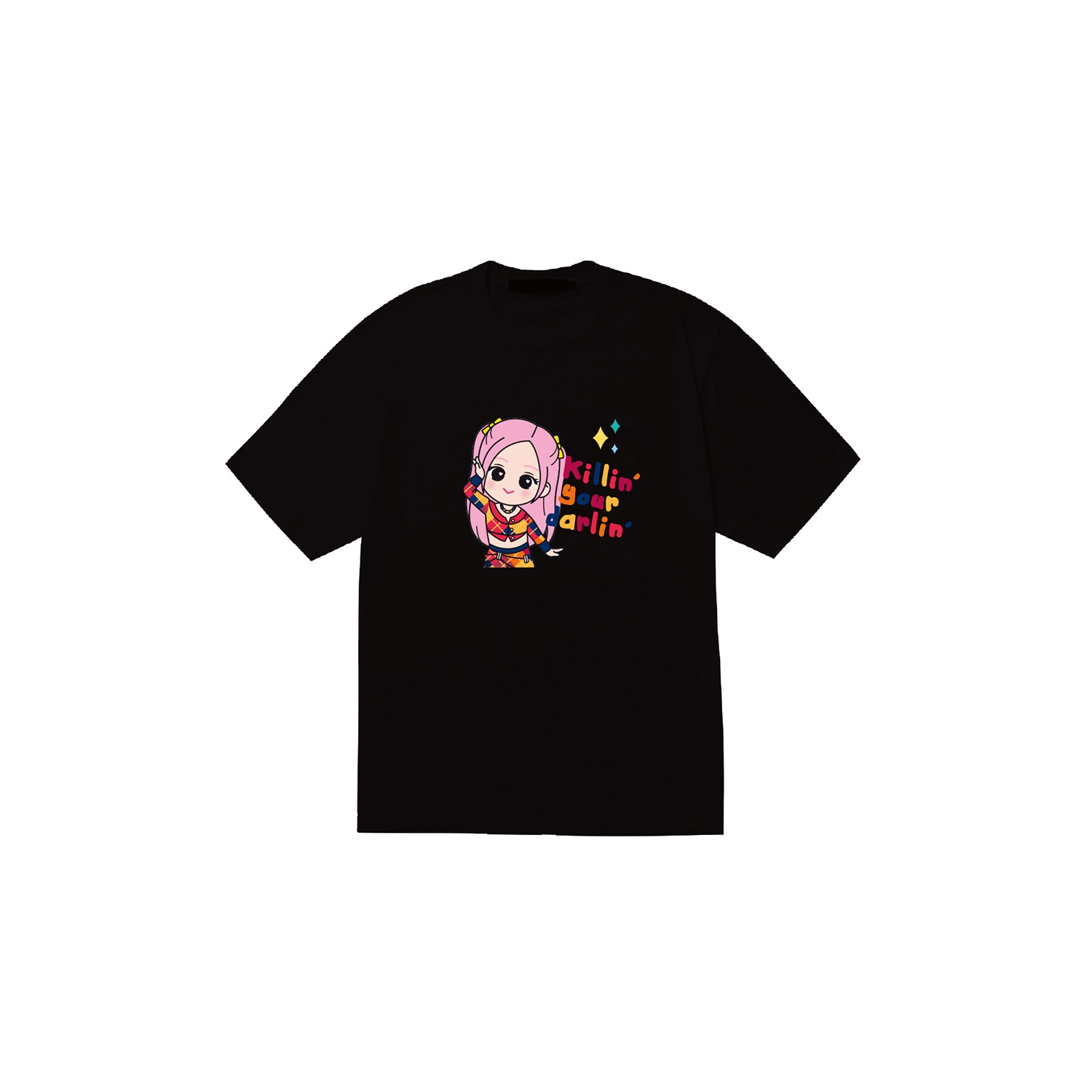[SOPOOOM] BLACKPINK THE SHOW CHARACTER T-SHIRTS_ROSE TYPE 3