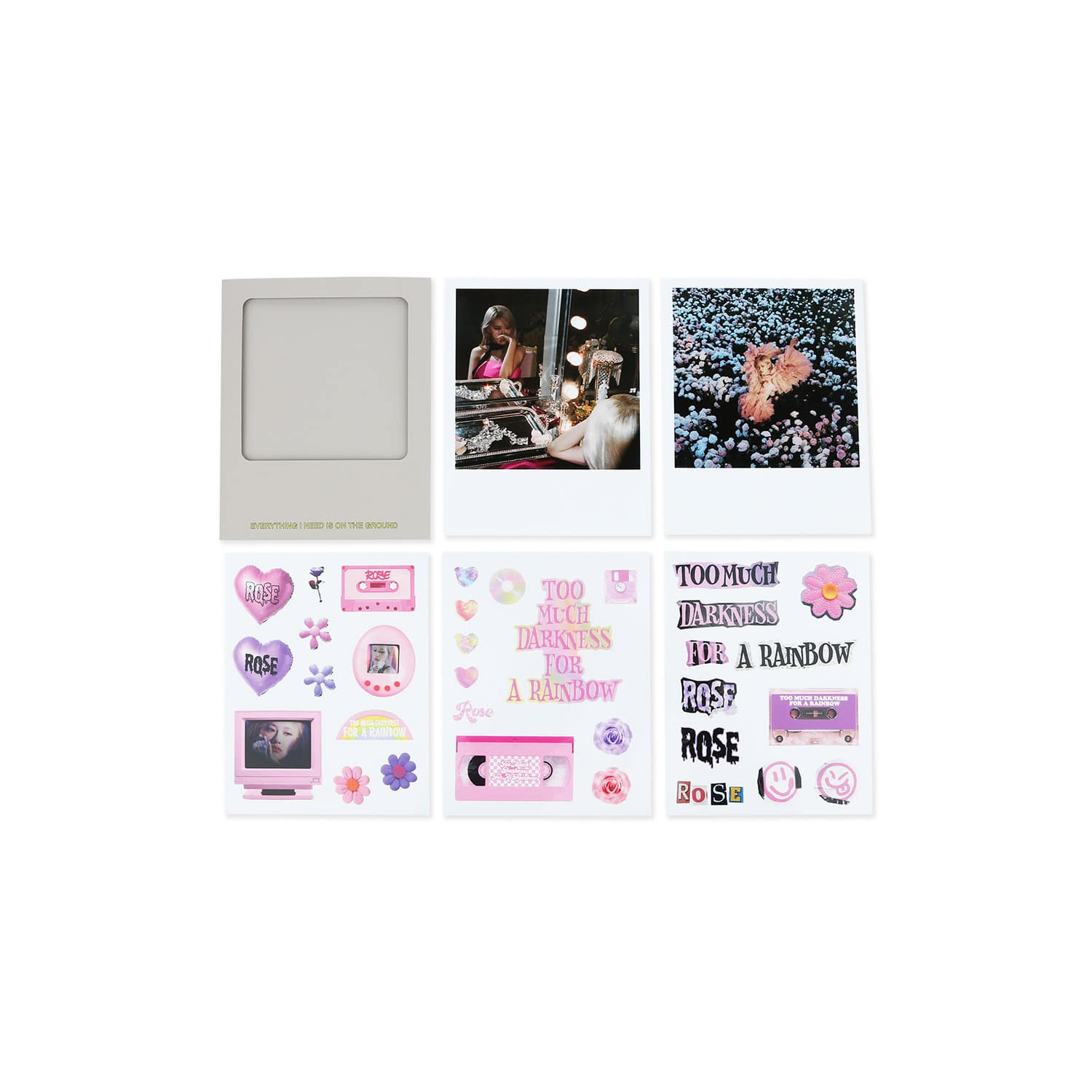 [-R-] ROSÉ PHOTO CARD + STICKER SET